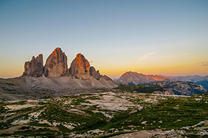 Welcome to the 3 peaks in the Dolomites
